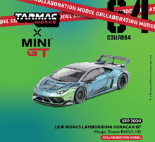 Load image into Gallery viewer, (Pre Order) MiniGT X Tarmac 1/64 LB★WORKS Lamborghini Huracán GT Special Magic Green Color Limited Edition