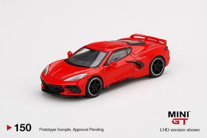 (Pre Order) MiniGT 1/64 Chevrolet Corvette Stingray 2020  Torch Red