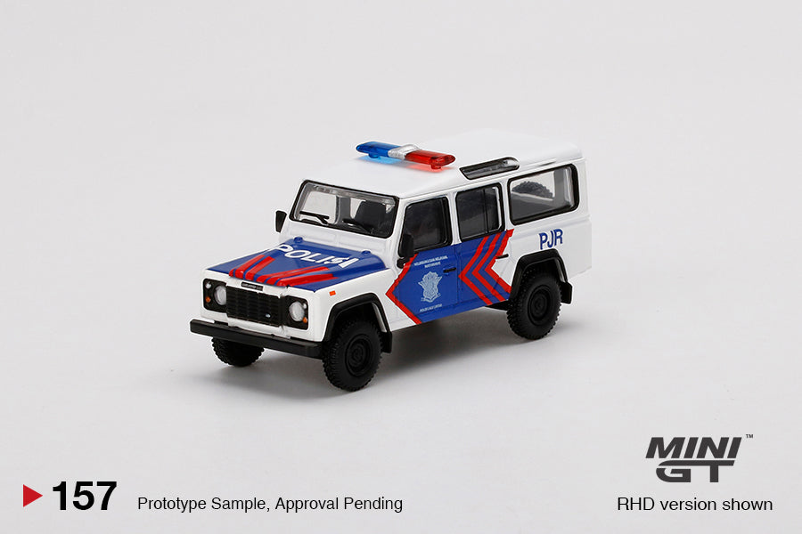 (Pre Order) MiniGT 1/64 Land Rover Defender 110 Korlantas (Indonesia National Traffic Police) EMS Exclusive