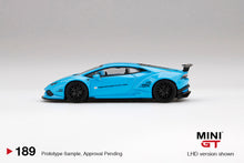 Load image into Gallery viewer, (Pre Order) MiniGT 1/64 LB★WORKS Lamborghini Huracán Ver. 1 Light Blue Limited Edition