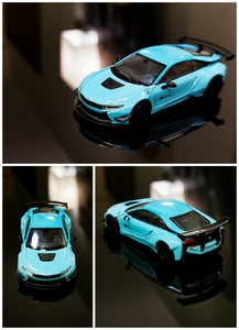 1:64 PARA 64 Liberty Walk BMW i8 Baby Blue