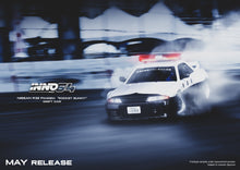 "Load image into Gallery viewer, (Pre Order) INNO 1/64 NISSAN SKYLINE GT-R (R32) ""PANDEM ROCKET BUNNY""  Japan Police Livery Drift Car"