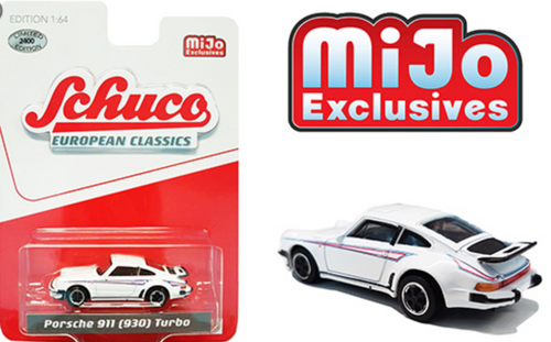 Schuco 1:64 Porsche 911 ( 930 ) Turbo White Martini Stripe Mijo Exclusive