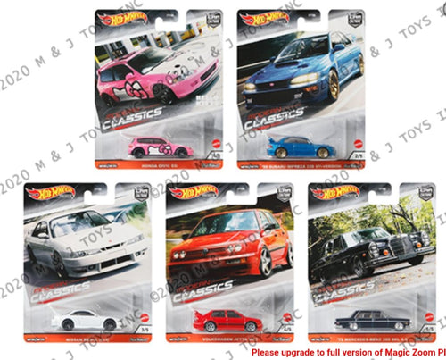 1 set of Hot Wheels 1:64 Car Culture 2020 Release Modern Classic