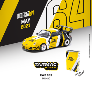 (Pre-order) Tarmac Works 1:64 RWB 993 Tarmac With metal oil can *** Limited to 2544pcs ***