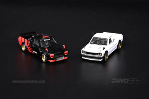 "(Pre Order) INNO 1/64 NISSAN  SUNNY ""HAKOTORA"" Pickup Truck  ""ADVAN"" Concept Livery WITH EXTRA WHEELS"