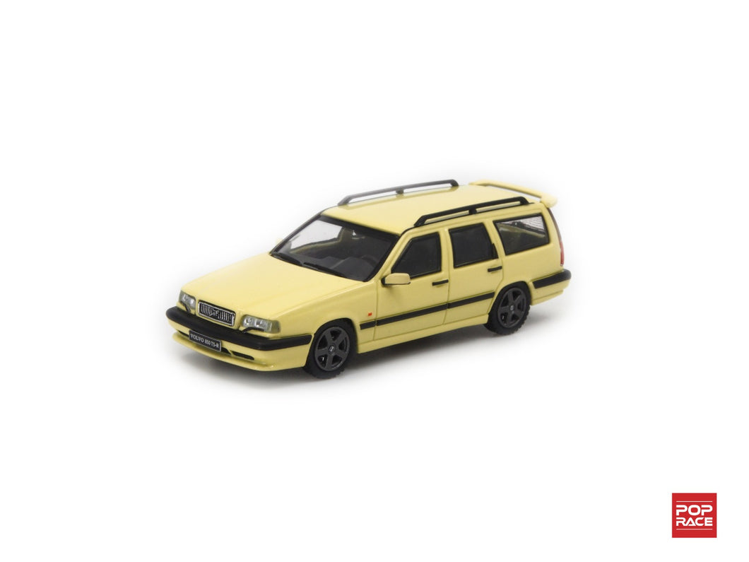 (Pre Order) POPRACE 1/64 Volvo 850 T5-R Estate Cream Yellow