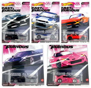 (Pre Order) 1 set of Hot Wheels 1:64 Car Culture Fast and Furious
