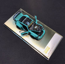 Load image into Gallery viewer, (Pre order) PGM 1:64 Porsche 911 930 RWB Tiffany Blue Diecast Limited Edition