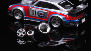(Pre-order) CM Model 1:64 Porsche RWB Martini 993 with Opening Engine Bay