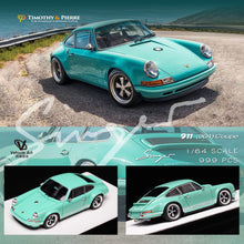 Load image into Gallery viewer, Timothy & Pierre 1:64 Porsche 911 Singer Tiffany Blue Coupe