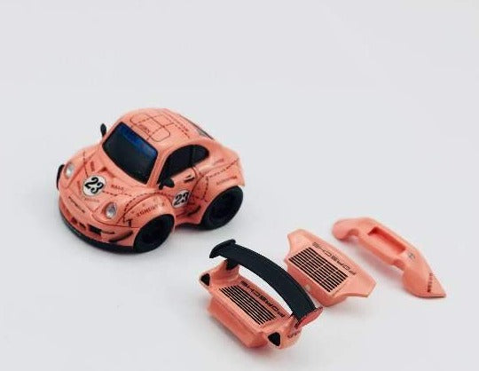VIP 1:64 Scale Porsche 911 993 RWB Q Car Pink Pig Limited Edition