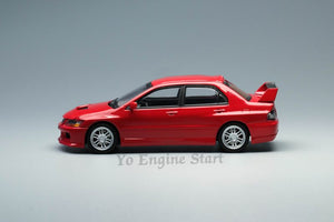 Y.E.S. 1/64 Mitsubishi Lancer Evolution IX Red (with pit stop diorama)