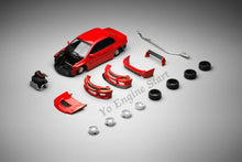 Load image into Gallery viewer, Y.E.S. 1/64 Mitsubishi Lancer Evolution IX Red (with pit stop diorama)