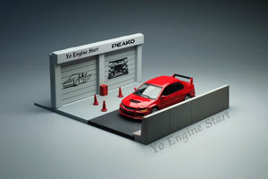 Y.E.S. Bundle 1/64 Mitsubishi Lancer Evolution IX Red with Diorama and 3 sets of accessories