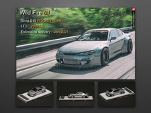 Load image into Gallery viewer, (Pre Order)WildFire 1/64 Nissan Silvia S15 Rocket Bunny Silver