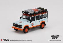 Load image into Gallery viewer, (Pre Order) MiniGT 1/64 Land Rover Defender 110 Gulf Livery Limited Edition Mijo Exclusive