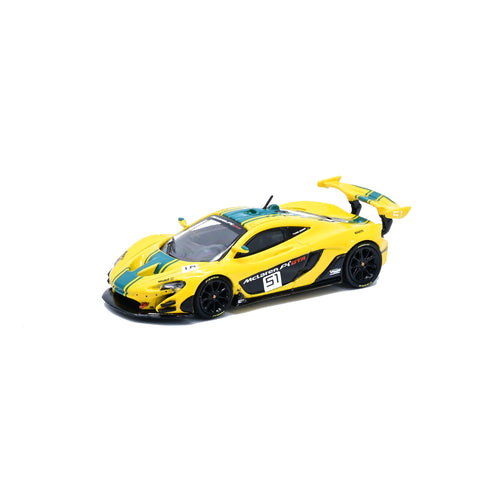 (Pre Order) CM Model 1/64 MCLAREN P1 GTR Yellow/Green Harrods Livery
