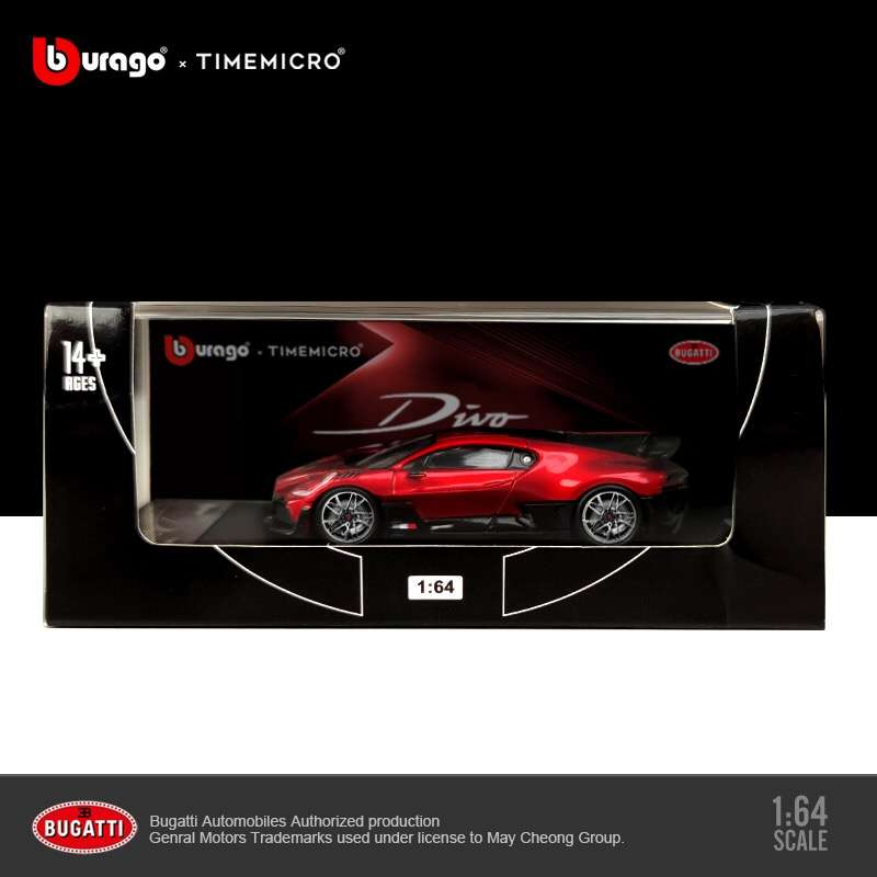 (Pre Order) Time Model 1:64 Bugatti Divo Red diecast