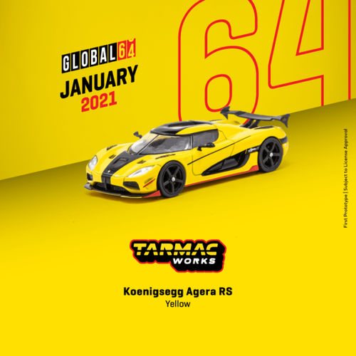 Tarmac Works 1:64 Koenigsegg Agera RS Yellow - GLOBAL64