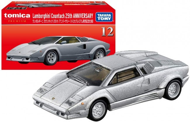 Japan Tomica Premium Lamborghini Countach 25th Anniversary Silver First Edition