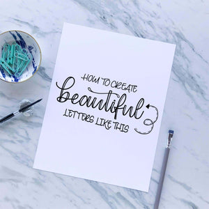 Learn how to create beautiful letters with modern calligraphy for beginners