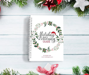 Holiday Lettering Guide | 25 Days of Christmas Lettering Phrases | INSTANT DOWNLOAD