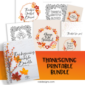 Thanksgiving Printable Bundle | Happy Thanksgiving Prints and Decor | Fall Printables |