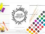 This Too Shall Pass Lettering and Coloring Practice Worksheets | INSTANT DOWNLOAD
