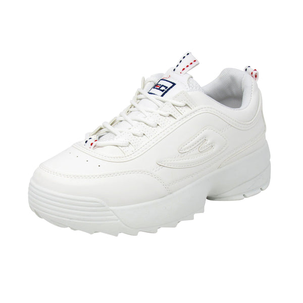 Enrico Coveri Men F.Combct LTH Fashion Casual Shoes Sneakers White