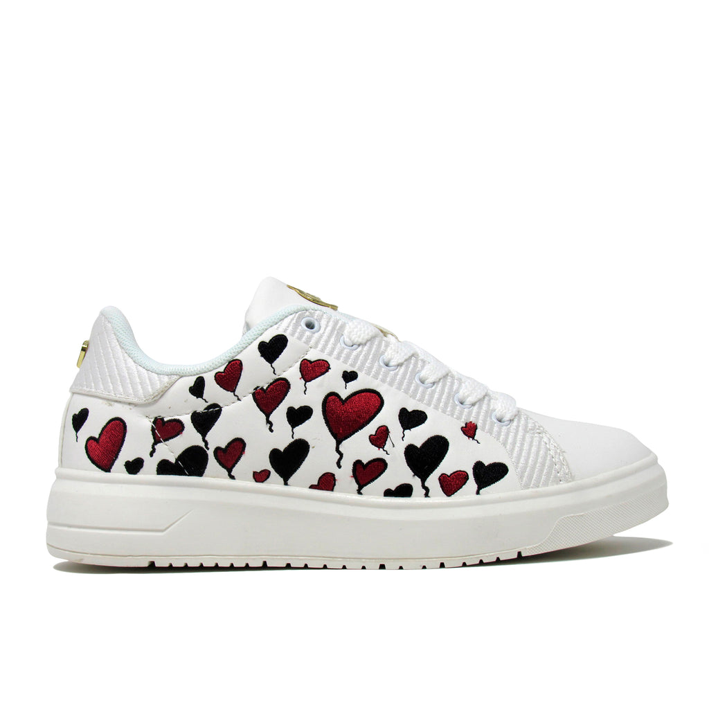 Taylor Nappa -  Lace up Hearts embroidery Fashion Sneaker