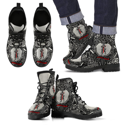 Knights Templar Leather Boots