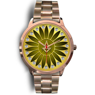 freemason rose gold watch