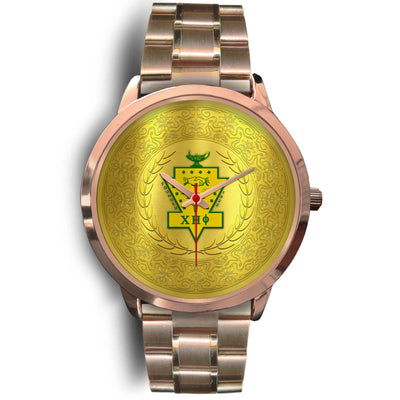 chi eta phi rose gold watch