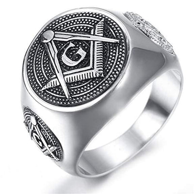 Stainless Steel Classic Masonic Ring