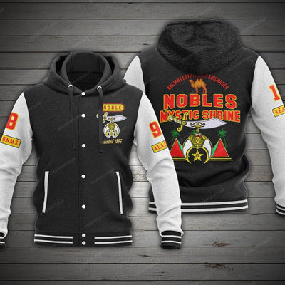 SHIRNERS HOODED BASEBALL JACKET