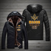 FREEMASON FLEECE LEATHER JACKET 1