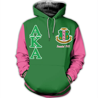 3D ALL OVER HOODIE ALPHA KAPPA ALPHA 16720191