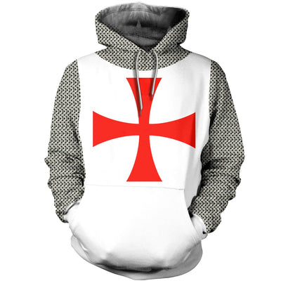 3D ALL OVER KINIGHTS TEMPLAR HOODIE T SHIRT 1762019