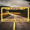Omega Psi Phi Car License Plate Frames
