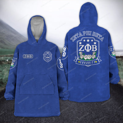ZETA PHI BETA FLEECE LAZY PAJAMAS HOODIE 20320202