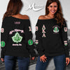ALPHA KAPPA ALPHA WOMEN'S OFF SHOULDER SWEATER 1