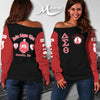 DELTA SIGMA THETA WOMEN'S OFF SHOULDER SWEATER 5