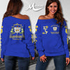 SIGMA GAMMA RHO WOMEN'S OFF SHOULDER SWEATER