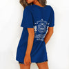 ZETA PHI BETA HOLLOW OUT V-NECK T SHIRT 4520203