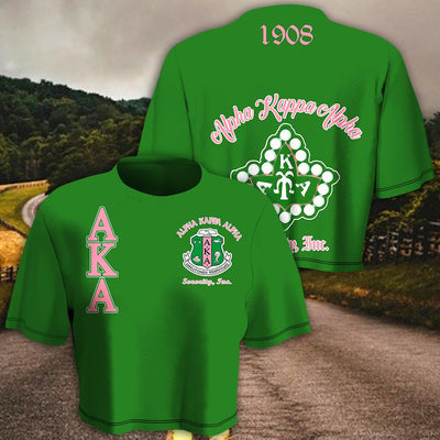 Alpha Kappa Alpha Women Croptop T-shirt