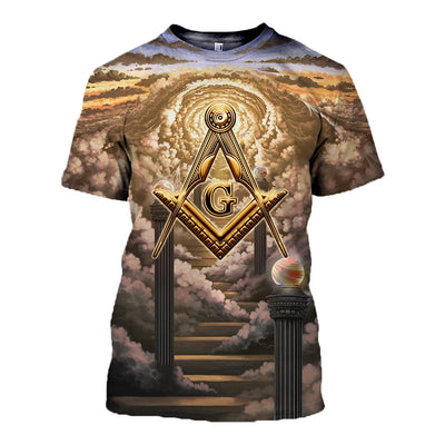 3D ALL OVER FREEMASONRY CLOTHES MSN006