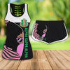 COMBO ALPHA KAPPA ALPHA HOLLOW TANKTOP AND SPORT SHORT OUTFIT 30720201
