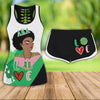 COMBO ALPHA KAPPA ALPHA HOLLOW TANKTOP AND SPORT SHORT OUTFIT 30720202