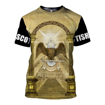 3D ALL OVER SCOTTISH RITE T SHIRT 5142019